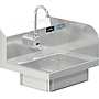 BRAZOS 14 x 10 x 5 HANDSINK WITH WALL SENSOR FAUCET END SPLASH RIGHT