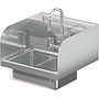 BRAZOS 16GA 14 X 10 X 5 HANDSINK W / DECK FAUCET  END SPLASH BOTH SIDES